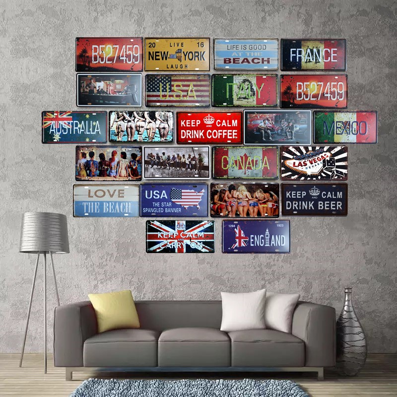 Car Service Garage Style Tin Sign Bar Cafe Store Home Wall Decor Metal Poster