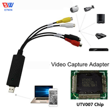 UTV007-1 Chip USB 2.0 Video Capture Card TV Tuner VCR DVD AV Audio Converter Connector for PC/Laptop HD Android(China)