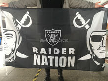 Oakland Raiders Nation Banner Flag Custom Colors World Series 3ft X 5ft Football Team Banners Oakland Raiders Colours Flag