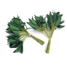 20Pcs Foam Green Artificial Leaf Bouquet For Wedding Party Decoration Accessories Leave Fleurs Scrapbooking DIY Craft Supplies(China)