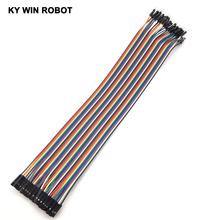 Buy Dupont line 40pcs 30cm 2.54mm 1p-1p Pin Female Male Color Breadboard Cable Jump Wire Jumper Arduino for $1.30 in AliExpress store