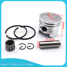 44mm piston 12mm pin ring needle bearing set for 49cc  2 stroke engine of mini quad atv pocket dirt bike