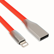 CloudTech Zinc Alloy New 3D Zinc Alloy USB Cable for iPhone 6 6S Plus Charger Power Cord for iPhone 5 5s SE iPad 4 iphone6 8 Pin