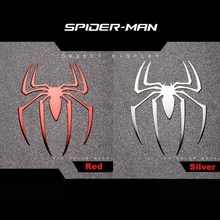 6 Pcs Hot Spiderman Reactor Metal Stickers 3D Spider Metal Sticker Phone Stickers Car Computer Mobile Cell Phone Sticker