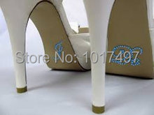 Cool wedding supplies wholesale ,100 pieces / Lot - I Do - Wedding Shoe Appliques -Crystal Rhinestone Bridal Shoes sticker