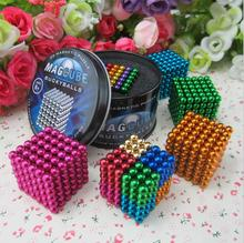 5mm216pcs Magnetic Buck Balls Toy Finger spinner Magic Cubes Anti-stress Toys Magnet Neo Cube Magic Metal Box Toy For Adult Kids(China)