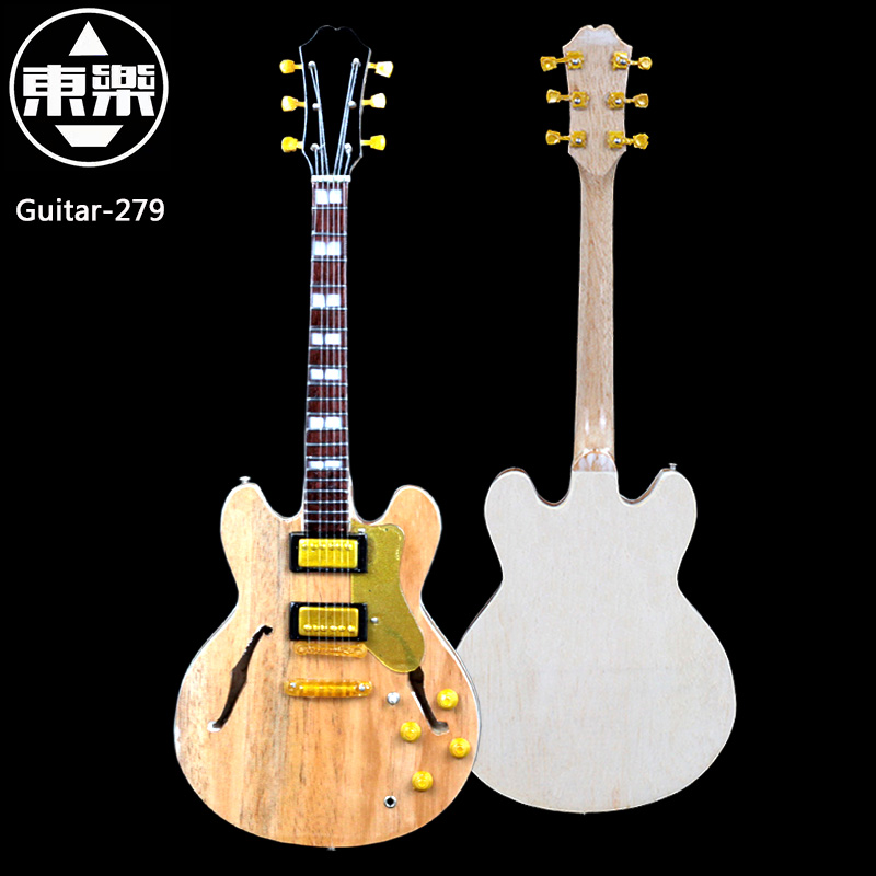 Wooden Handcrafted Miniature Guitar Model guitar-279 Guitar Display with Case and Stand (Not Actual Guitar! for Display Only!)<br>