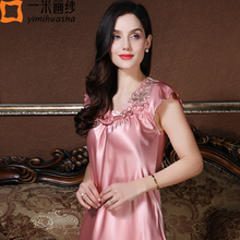 Buy women sexy nightgown sheer satin nightgown sleepwear female ladies nightdress sleeveless nightgown lingerie lace nightgowns for $13.76 in AliExpress store