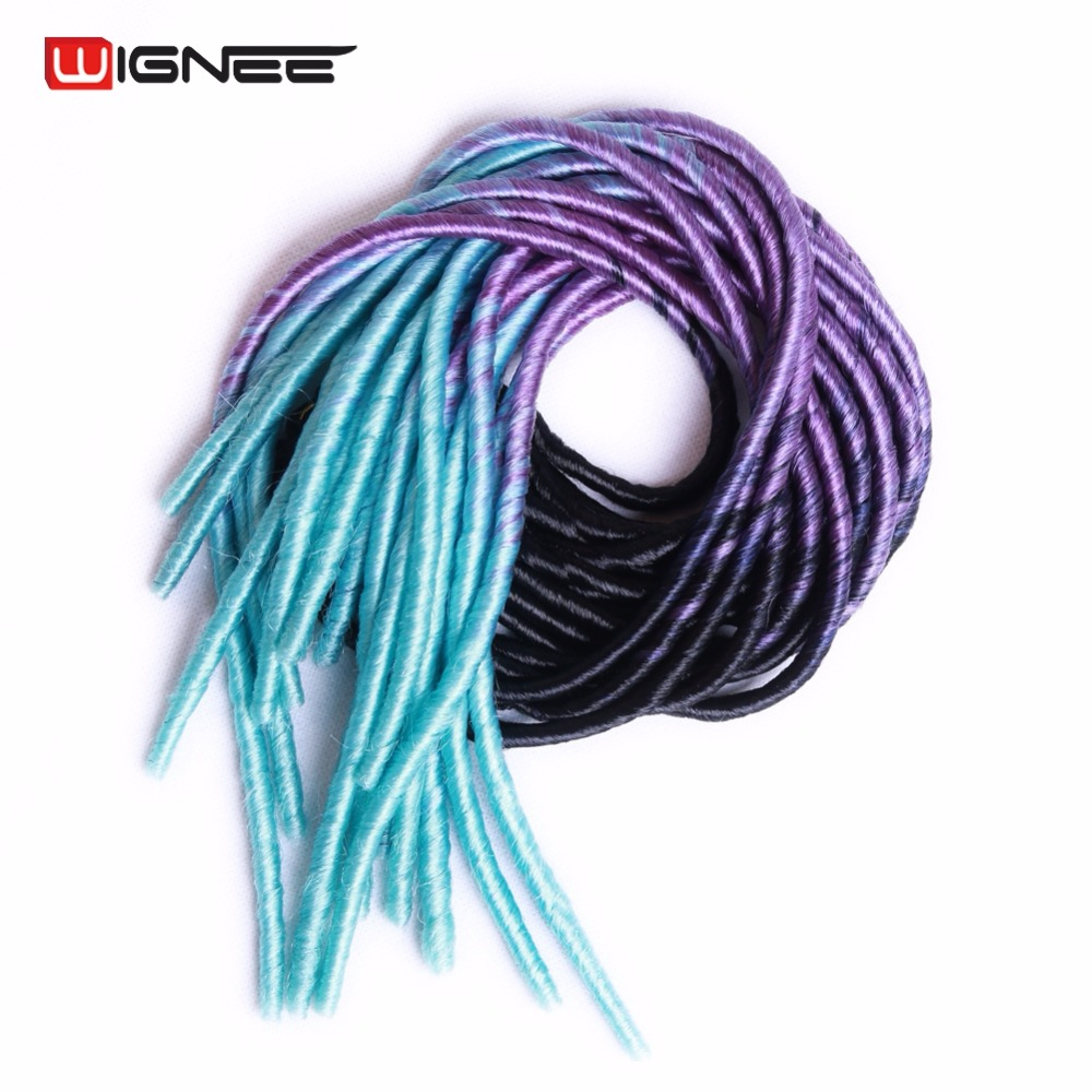 Online buy wholesale dreadlock from china dreadlock wholesalers wignee 20 synthetic dreadlock braid hair extensions for black women 3 tone ombre color natural pmusecretfo Image collections