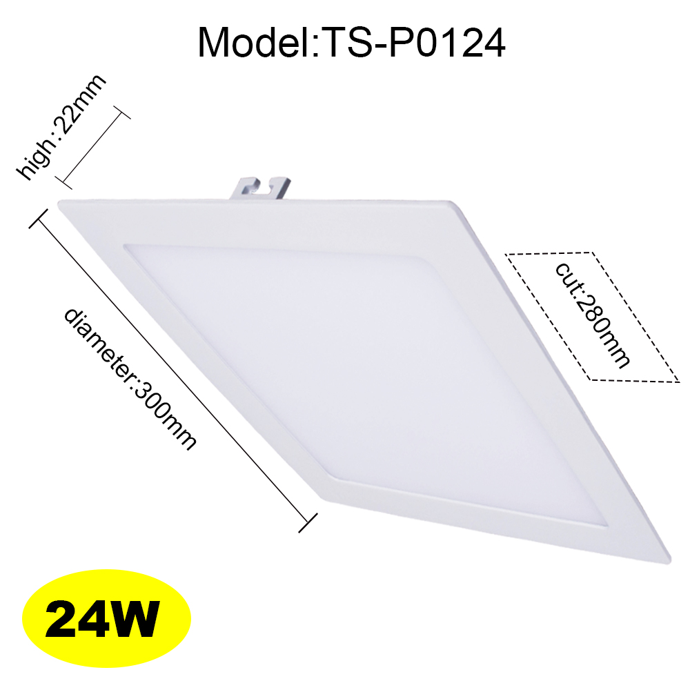 24W White Square LED Ceiling Recessed Light LED Downlight LED Flat Lamp LED Panel Ceiling for Home Bathroom<br><br>Aliexpress