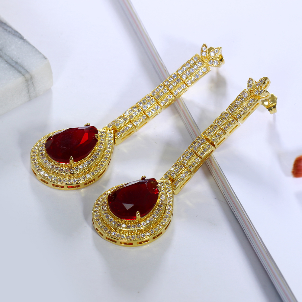 big water drop stone earrings (13)