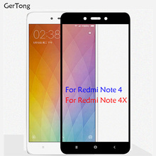Buy GerTong 2.5D Full Cover Screen Protector Tempered Glass Xiaomi Redmi Note 4 Global Version Note 4X Colorful Protective Film for $1.21 in AliExpress store