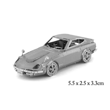 Cool 3D Metal Puzzle Model Nissan Coupe Jigsaw Stainless Steel Vehicles Car Taxi Supercar 3D Educational Toy for Children Adults