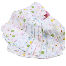15pieces/lot 31x31cm large 100% cotton Baby Gauze Muslin Washcloth Baby Wipe Sweat Absorbing Towel,soft Handkerchief(China)