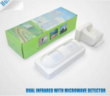 PIR & Microwave Anti Pet Outdoor Sensor IP65 Pet Immune 25kg for alarm system/Infrared Microwave Dual Wired Outdoor PIR Sensor(China)