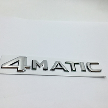 For Mercedes 4Matic Trunk or Side Emblem Chrome Badge Logo Car Stickers For Benz W124 W210 C E CL CLS R