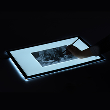 A2 60*40cm LED Artist Stencil Board Tattoo Drawing Tracing Table Display Light Box Pad LED Copy Board Intelligent Touch US Plug