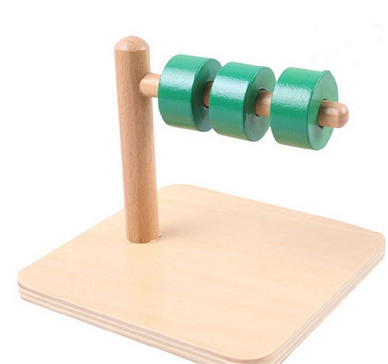 New Wooden Baby Toy Montessori Kids Toy Baby Wood Cylindrical Horizontal dial Learning Educational Preschool Training Baby Gifts<br><br>Aliexpress