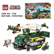 Enlighten 1709 446pcs Combat Zones Military Series Fighter Attack Armored Car Building Blocks