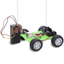High Quality DIY Two-way Remote Control NO.14 Green Car Kit Assembling Model Toy Robot DiY Smart Robot for Childrren's Gift(China)
