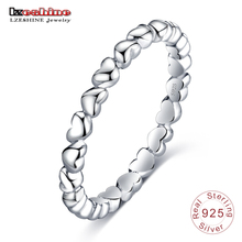 LZESHINE Romantic Ring For Women Authentic 925 100% Solid Sterling Silver Forever Love Finger Ring Fine Jewelry PSRI(China)