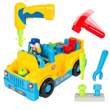 1XFun Building Multifunctional Take Apart Toy Tool Truck with Electric Drill and Tools