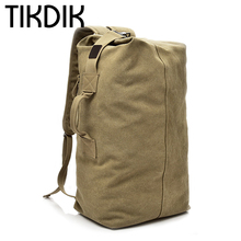Multifunction High Capacity Travel Duffle Canvas WeekendBag Men Hand Luggage Folding Trip Rusksack Military Organizadores valise(China)