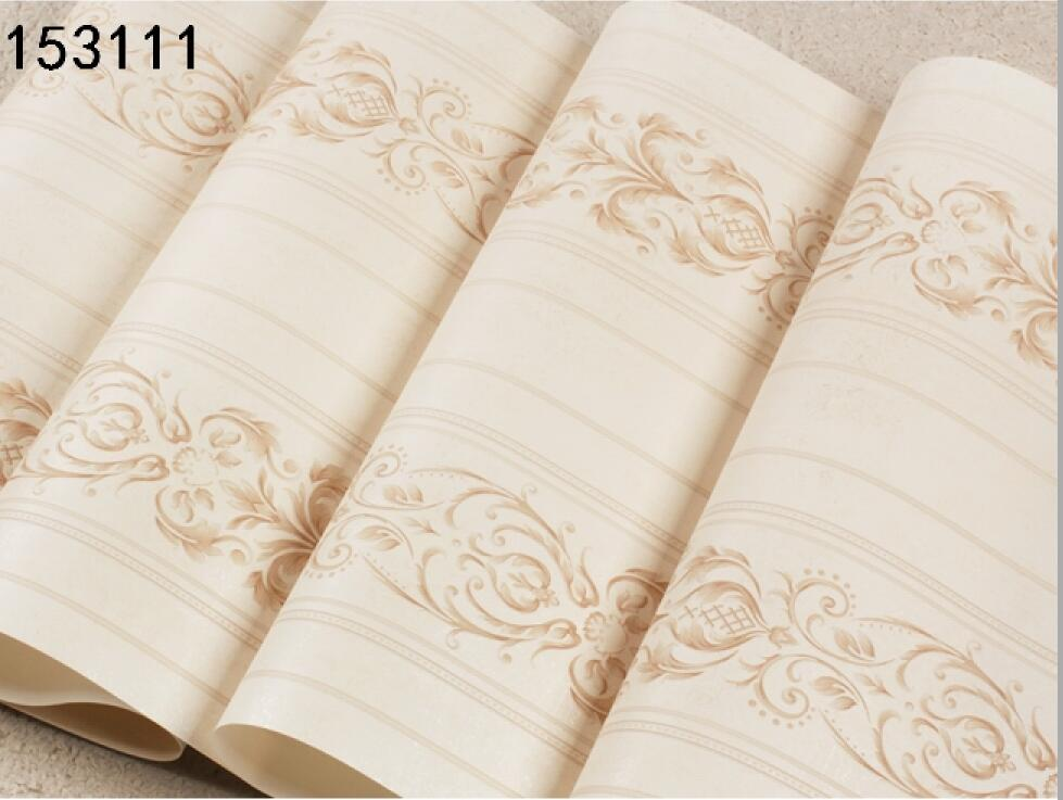 Beige Striped Wallpapers For Living Room Flowers Striped Wallpaper 3d Relief High Quality Wallpaper Boys Bedroom Wallpaper Roll<br>