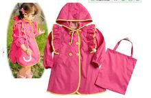 Han edition wave point children PVC raincoat(China)