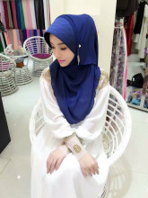 Fashion Women Lady Muslim Wrap Hijab Islamic Scarf Arab Shawls Malaysia Headwear(China)