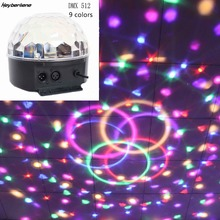 9 Colors Dj dmX 512 Controller Party Lights Stage Light LED Crystal Magic Ball Stage Effect Lighting Lamp Lumiere Moving Head(China)