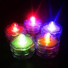 Super Bright Submersible Waterproof Mini LED Tea Light Candle Lights For Wedding Party Deocration Vase Light
