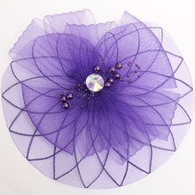 Well Retail Wedding Holiday Fascinator Cocktail Hat for Women French Veiling Hair Headband Vintage Lady Party Accessory(China)