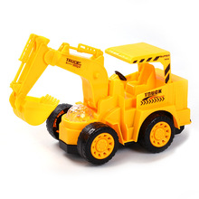 Children's excavator car bright light flash music electric Plastic Engineering Vehicle excavator model toy for boys gift(China)