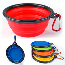 50pcs 100pcs Wholesale Collapsible Silicone Pet Bowl Feeding Water Dish Portable Travel Bowls For Puppy Dog Cat