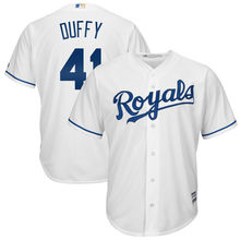 MLB Men's Kansas City Royals Danny Duffy Baseball White Cool Base Home Player Jersey(China)