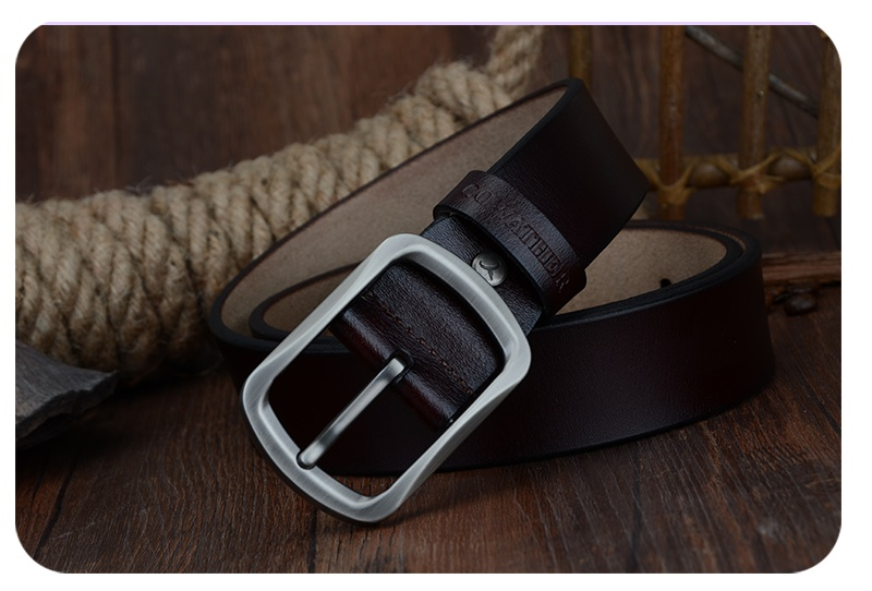حزام COWATHER جلد طبيعي للرجال 40