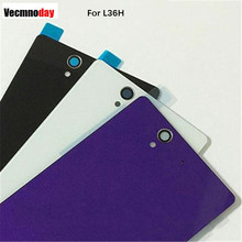 Vecmnoday 1pcs/lot For Sony xperia Z L36H L36 C6603 C6602 Case Glass Battery Housing Cover L36I Replacement Back Cover Cases(China)