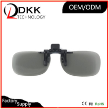 Newest Round polarized 3D glasses clip type for Myopia near-sightedness 3d Dimensional glasses watching 3D movies RealD cinema(China)