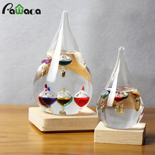 Colorful Galileo Thermometer Weather Temperature Forecast Bottle Storm Glass Tube Office Home Decor Ornament Gift with Balls Tag
