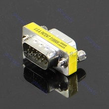New VGA HD15 Male to Male M/M Mini Gender Changer Converter Adapter -R179 Drop Shipping
