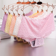 Buy Free Shipping New lace non-trace waist boxer ladies underwear sexy breathable bamboo fiber pure cotton Size M R1