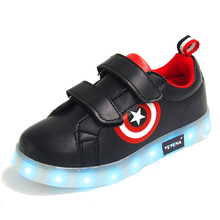Eur26-37 // USB Charging Basket Led Children Shoes With Light Up Kids Casual Boys&Girls Luminous Sneakers Glowing Shoe enfant