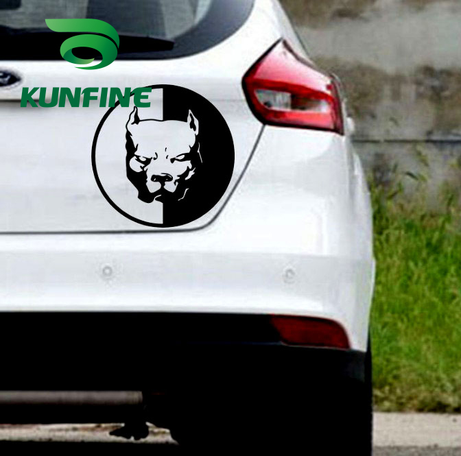 pitbull super hero dog car sticker car decal-4 -
