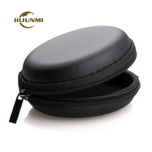 JINCHI Mini Portable Earphone bag Cable Case Storage Carry Case Bag Headphone box Earbuds 60mm Earphone Accessories