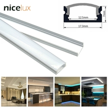 10set 1.6ft 0.5m/set U-Shape LED Strip Aluminum Channel Profile for 8mm 10mm 12mm 3528 5050 LED Bar Light Housing with Cover(China)
