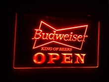 b27 OPEN Budweiser Beer NR Pub Bar pub club 3d signs LED Neon Light Sign home decor crafts