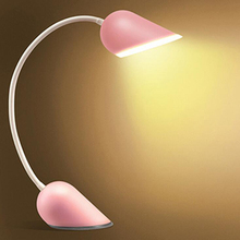 New Dimmable USB Charging Table Lamps Portable Heart Shape LED Night Light LED Reading Lamp Desk Lamp Cute Couple Lights(China)