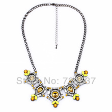 xl00739 Fair Trade Yellow Necklace Mexican Silver Color Accessory For Sale(China)