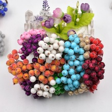 20pcs 40heads Artificial Flower pearl Pomegranate Artificial Stamble berries For Wedding Decoration DIY Scrapbooking Decorative